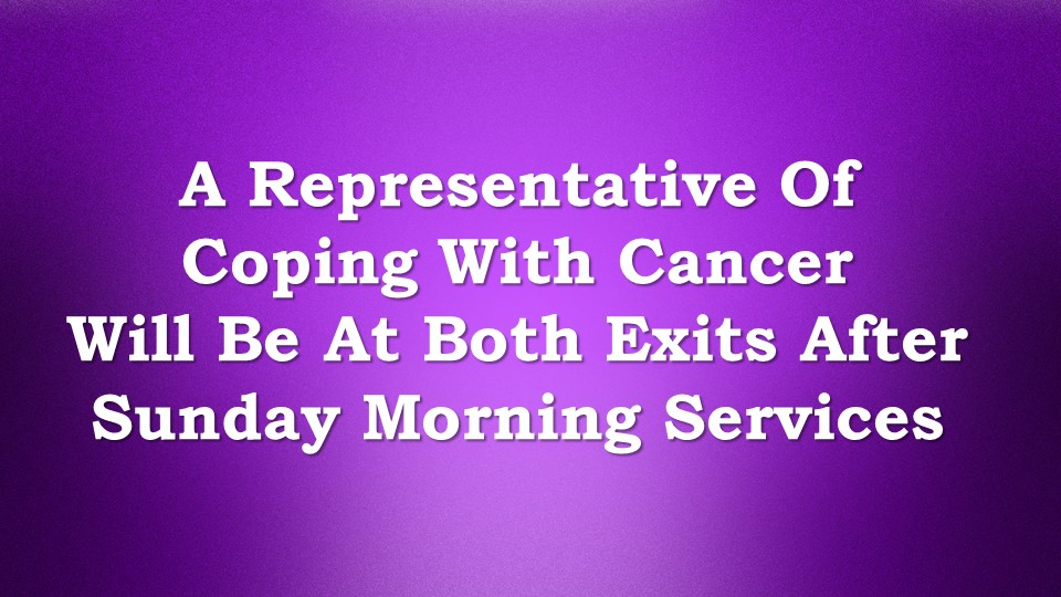 Coping cancer rep